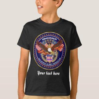 Obscuridade patriótica da parte traseira da parte camisetas