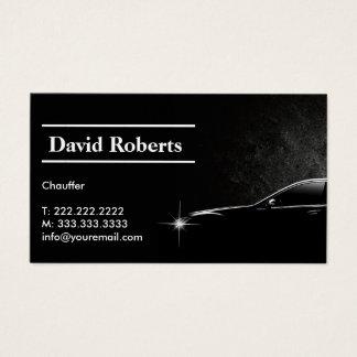 Obscuridade profissional do taxista do Chauffeur Cartão De Visitas