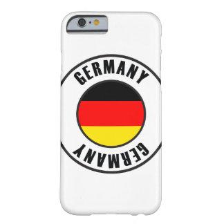 Obscuridade simples da bandeira de Alemanha Capa Barely There Para iPhone 6