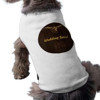 Obscuridade Wedding do Couro-Olhar Camisa Sem Mangas Para Cachorro