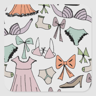 obtenção vestido adesivo quadrado