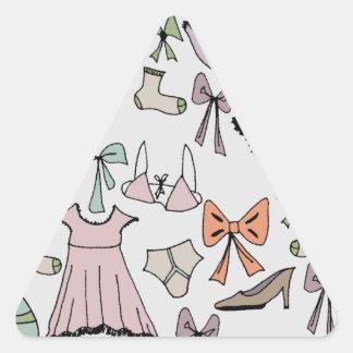 obtenção vestido adesivo triangular