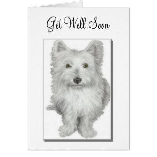 """""""Obtenha cartão bonito do cão do westie do poço"""