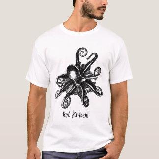 Obtenha Kraken! Tshirt de STeampunk do polvo de