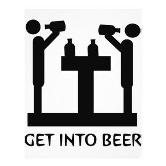 obtenha no ícone da cerveja modelos de panfleto