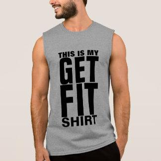 Obtenha o bloco apto da tipografia camiseta sem manga