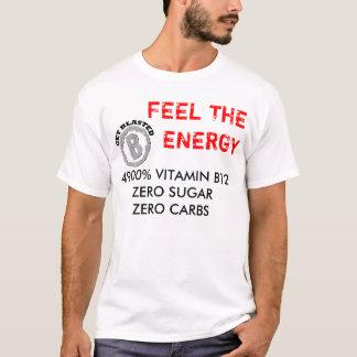 Obtenha o logotipo soprado, VITAMINA B12ZERO T-shirt