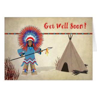 Obtenha o poço - miúdos - cartão indiano nativo do