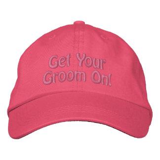 Obtenha seu noivo sobre! Groomer bordado do cão do Boné Bordado