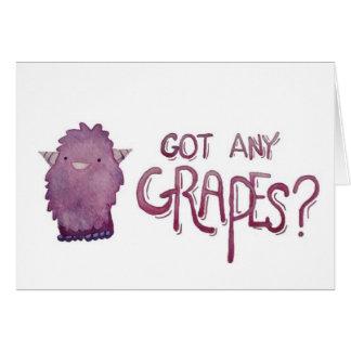 Obteve todas as uvas cartão comemorativo