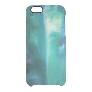 Oceano da aguarela capa para iPhone 6/6S clear