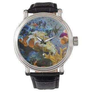 oceano do coral dos peixes do recife relógio de pulso