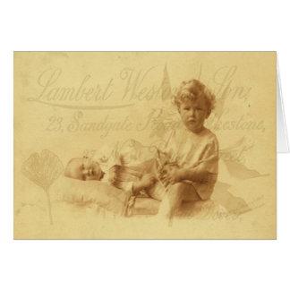 Ocupando do cartão do bebê