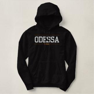Odessa Texas EUA bordou Hoodies das mulheres Moletom Com Capuz Pulôver Bordado Feminino