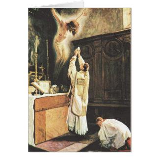 Oferecimento católico da massa cartão