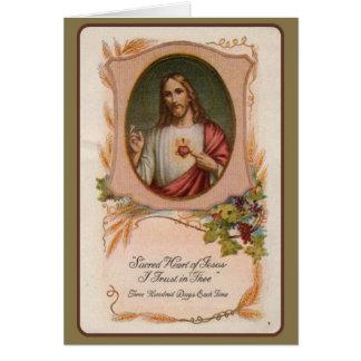 Oferecimento memorável maciço católico do coração cartão