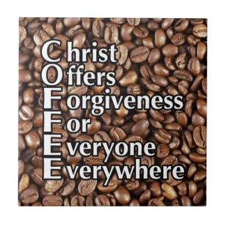 ofertas do cristo dos feijões de CAFÉ do azulejo