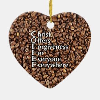 Ofertas do cristo dos feijões de CAFÉ do ornamento
