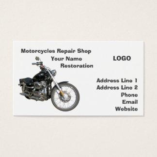 Oficina de reparações 2 das motocicletas cartão de visitas