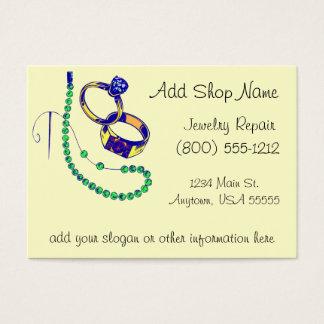 Oficina de reparações da jóia cartão de visitas