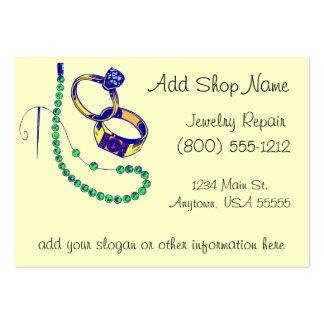 Oficina de reparações da jóia cartão de visita grande