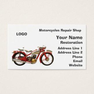 Oficina de reparações das motocicletas cartão de visitas