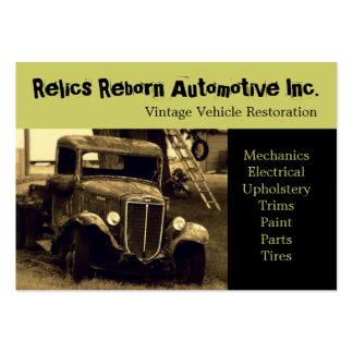 Oficina de reparações velha do caminhão do veículo cartão de visita grande