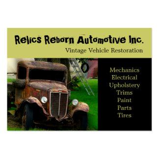 Oficina de reparações velha do caminhão do veículo cartões de visitas