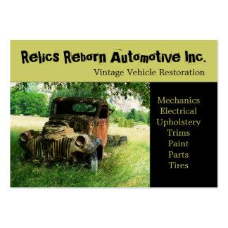 Oficina de reparações velha do caminhão do veículo modelos cartoes de visita