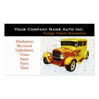 Oficina de reparações velha do carro - restauraçõe cartao de visita