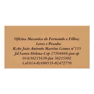 Oficina Mecanica do Fernando e Filhos;   Leves ... Cartoes Com Fotos Personalizados
