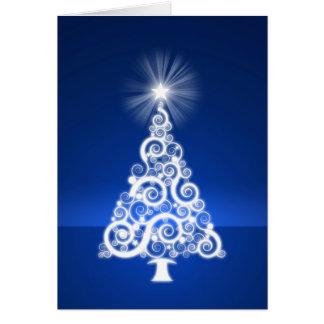 Oh cartão do feriado da árvore de Natal