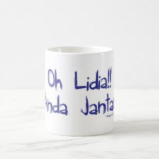 oh Lidia Azul Caneca De Café