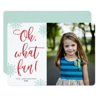 Oh que divertimento! Cartões com fotos do feriado