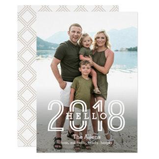 Olá! 2018 cartões traseiros EDITÁVEIS do ano novo