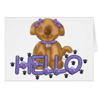 Olá! cartão do cachorrinho