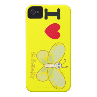 Olá case mate corajosa de Butterfly® Blackberry iPhone 4 Capa