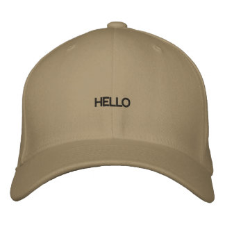 Olá! chapéu bordado bones