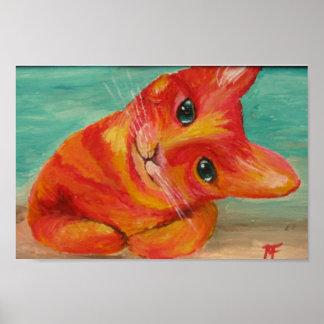 Olá! lá - pintura engraçada do gato poster