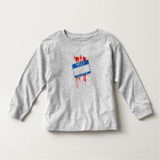 Olá!, meu nome é… Luva longa da criança dos T-shirt