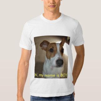 olá!, meu nome é MENINO T-shirts
