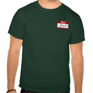 Olá! meu nome é o sótão (vermelho) t-shirt