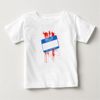 Olá!, meu nome é… T-shirt da criança dos meninos