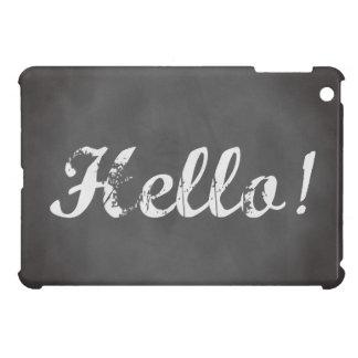 Olá Quadro cinzento na moda Capas iPad Mini