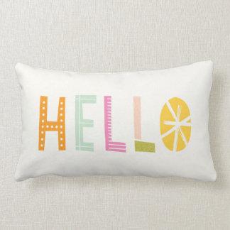 Olá! travesseiro lombar - laranja almofada lombar