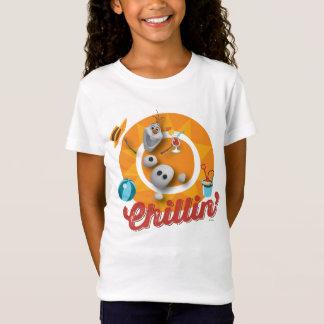 Olaf | Chillin no círculo alaranjado Camisetas