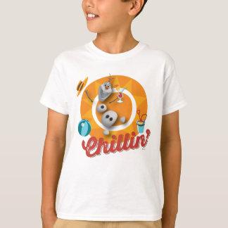 Olaf | Chillin no círculo alaranjado T-shirt