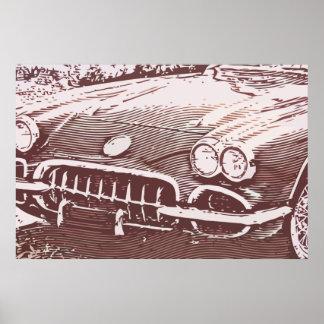 OLD CAR PÔSTER