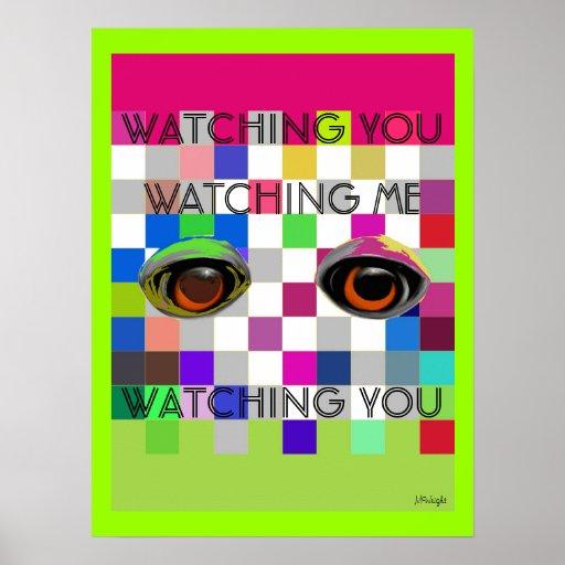 Olhando o olhar-me poster do pop art