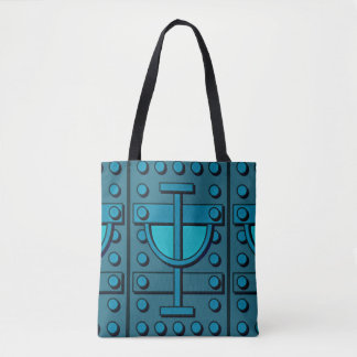 Olhar blindado sobre por todo o lado na sacola do bolsas tote